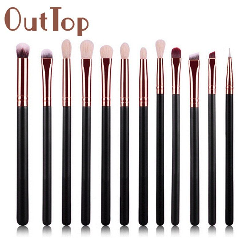 Best Deal Hot ! 12Pcs Cosmetic Brush Makeup Brushes Eyeshadow Blush Lip Brushes Sets Kits Tools for Women Beauty
