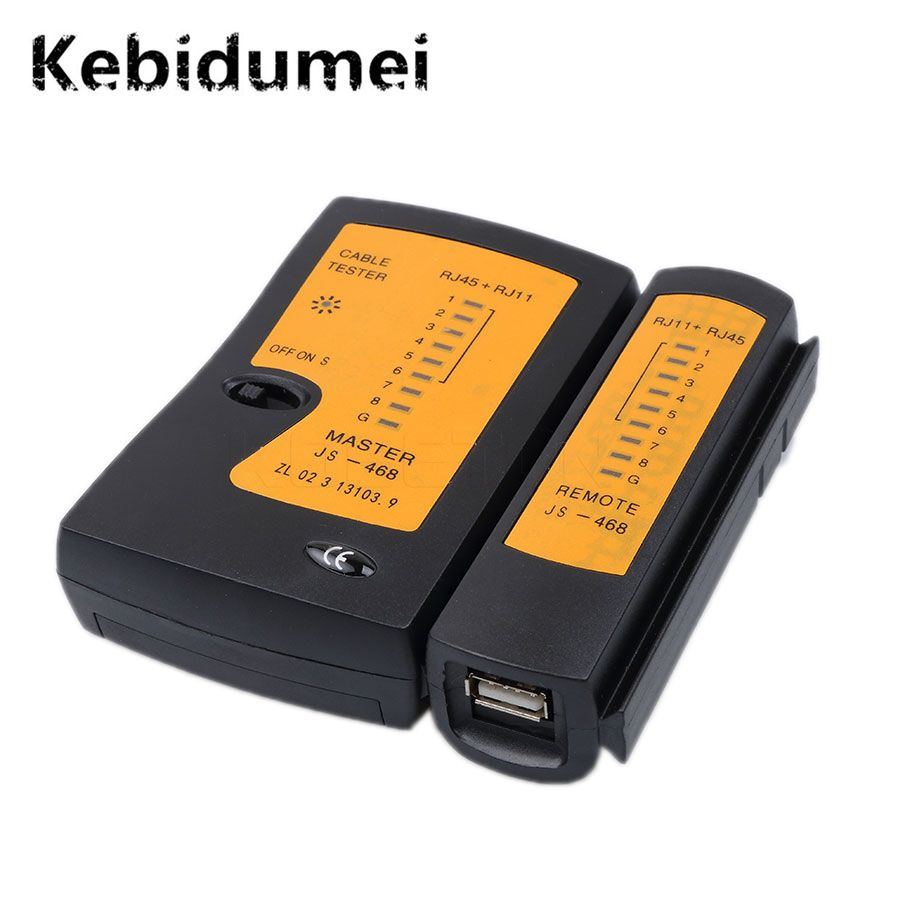 Kebidumei USB RJ45 Wire Tester Wire Tester Tools Network Cable Double-twisted Cable Detector Tracker Tool kit Networking Newest