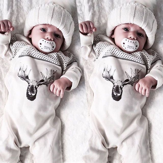 Organic Baby Girl Boy Clothes Long Sleeve Romper Jumpsuit Playsuit Baby Boys Girls Outfits Clothing Cotton