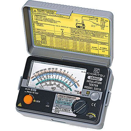 Fast arrival KYORITSU 3321A Analogue Insulation Tester  3 ranges 250V/500V/1000V
