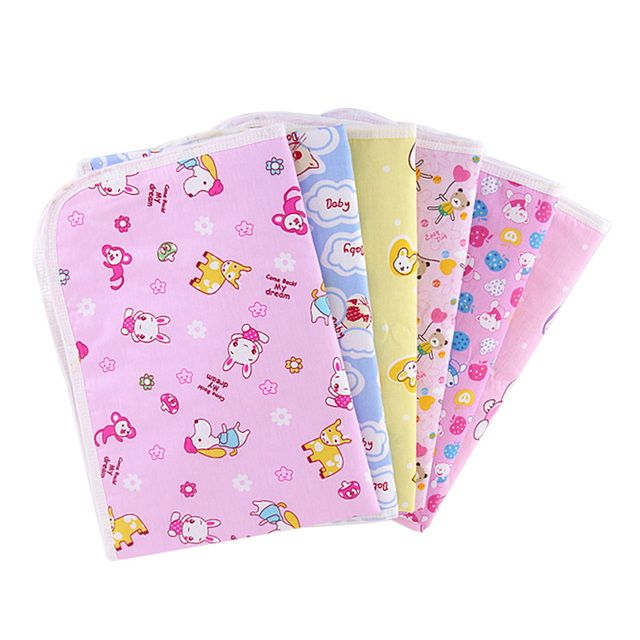Cotton Changing Pad Cover Portable Waterproof Newborn Infant Baby Diapers Mattress Random Color S/M