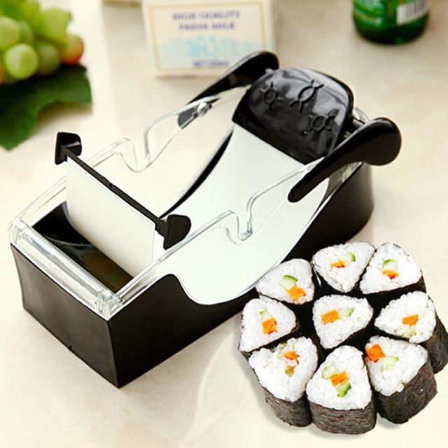2017 New Kitchen Sushi Roller Perfect Magic Roll Easy Sushi Maker Cutter Roller DIY Kitchen Perfect Magic Onigiri Roll Tool