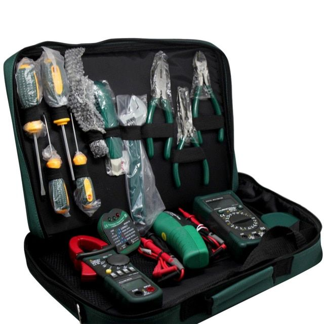 MASTECH Electrician Kit MS5902 MS8233B MS2008A MS6906 tool sets +bag