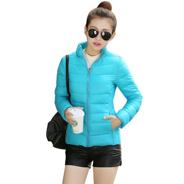 Winter Ladies Jacket Cotton Women Slim Ultra-Light Warm Soft Jacket Coat Casual Outwear New