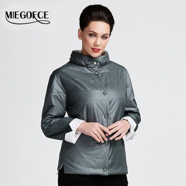 MIEGOFCE 2016 Spring new jacket coat women fashion warm padded cotton Medium-Long parka jackets Quilted big size womens clothes