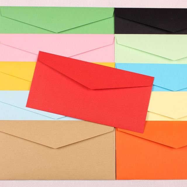 (220*105mm) 20pcs/lot Color Western-style Envelope A5 Blank Bills Receive Bag Kraft Envelopes Paper Enveloppe 6586