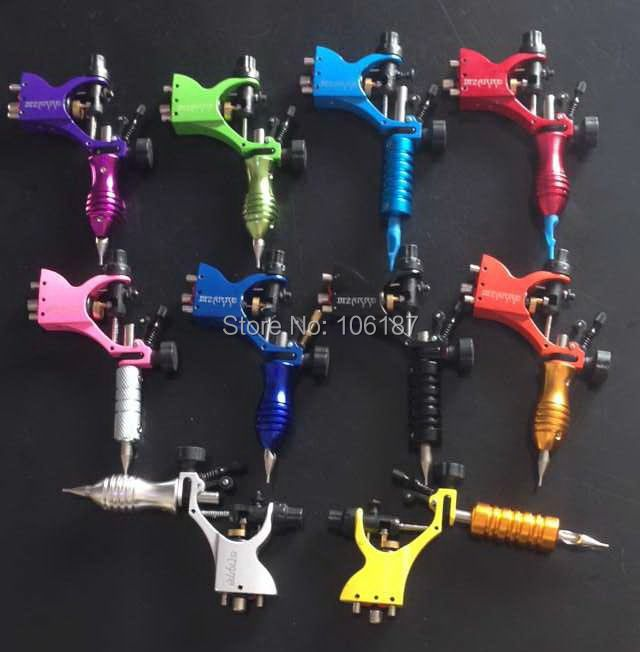 1Pc Stigma Bizarre V2 rotary Tattoo Machine Gun +1Pc Colorful Tattoo Tube Grip+1SS Tattoo Tip Nozzle Mixed Color for tattoo