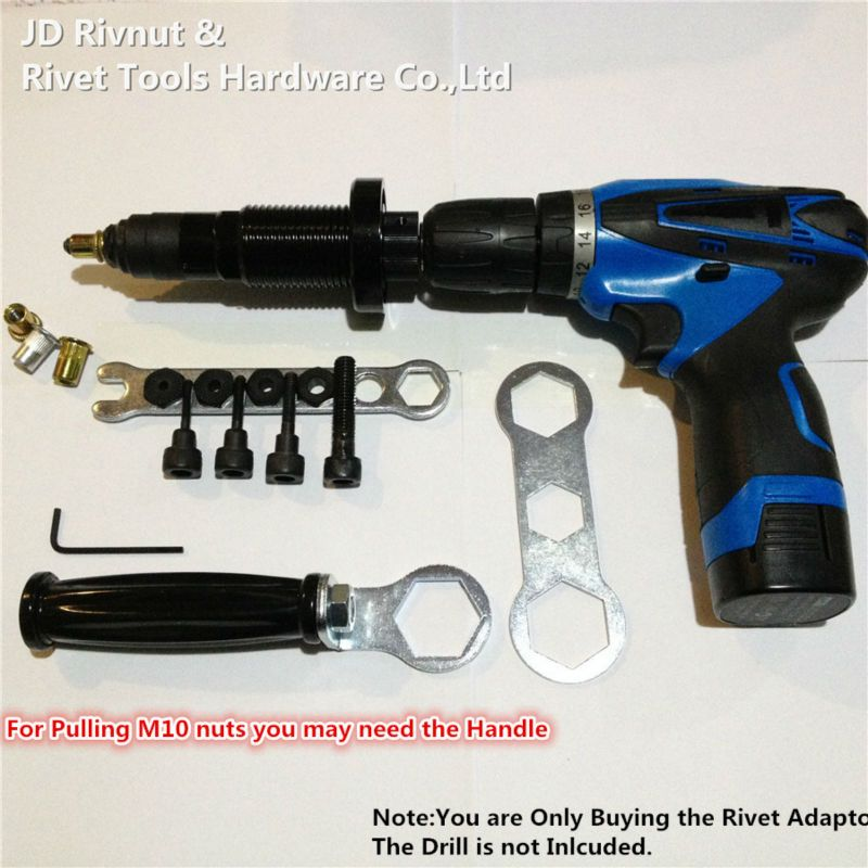 Ratchet Rivet Gun M4-M10 Electric Rivet Nut tool  Battery nut Riveter Adapter Insert Nut Cordless Drill Adaptor Rivet Tool