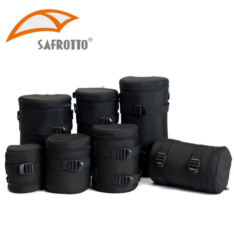 Safrotto Professional DSLR Camera Bag National Geographic Lens Bag Black Shockproof Pouch For Canon Camera Nikon Sony