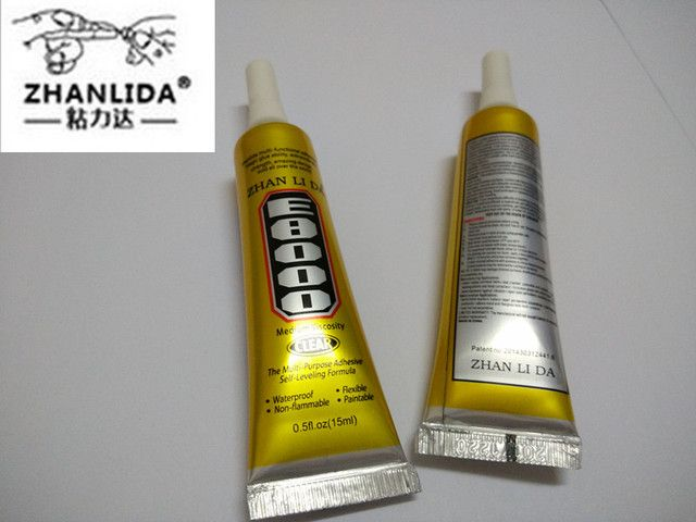 ZHANLIDA New E8000 Clear Adhesive Sealant Glue For DIY Diamond Clothes Shoes Paste Jewelry Craft Phone Border Glue