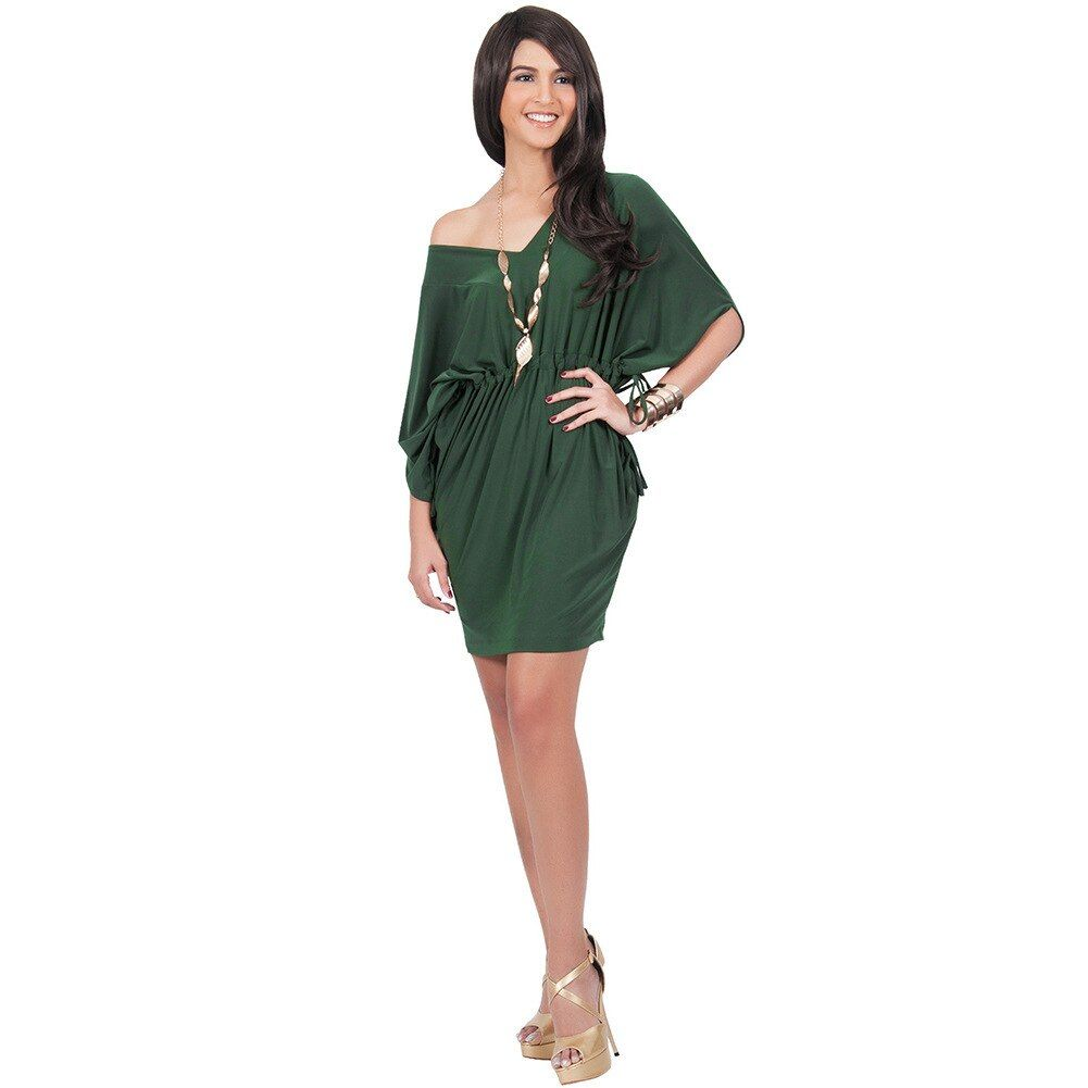 Women's sexy V-neck Solid beach Little Cocktail Party Dress Plus size Causal Club dresses