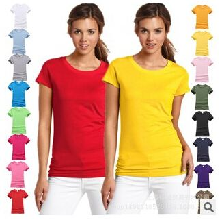 Fashion pure cotton short sleeved women's T-shirt bottoming t shirt women candy colors female t-shirts top tee shirt 17 colors