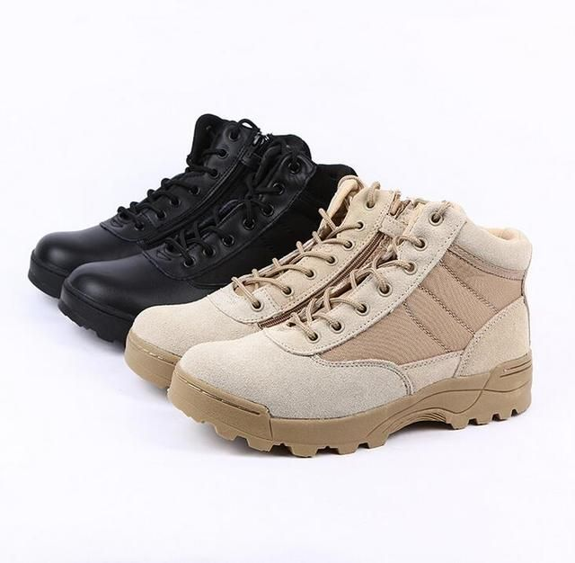 Summer Desert Tactical Boots Military Combat  Hiking Black Ankle Boots Men Shoes Work Army Boots Zapatillas Botas Plus Size