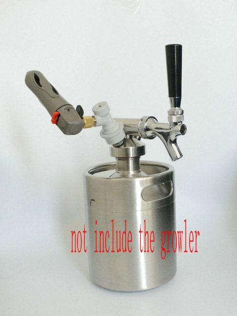 64oz beer keg coupler/growler spears/Beer Spear With Tap Faucet /For Mini Keg Beer Growler with CO2 Injector Premium