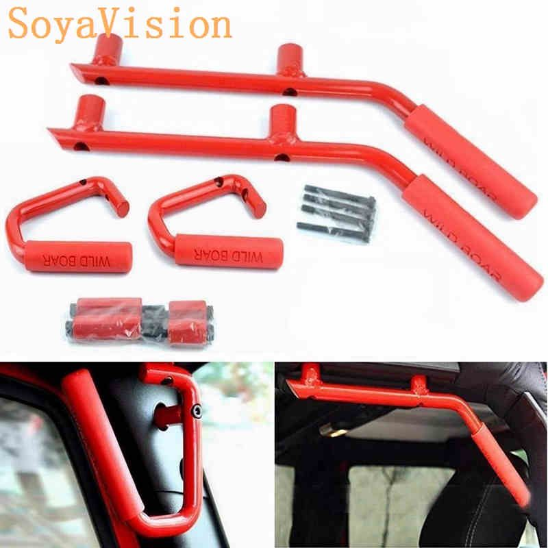 Free shipping! For Jeep Accessories New Grab Bars 2 & 4 Door Front Grab Handles Fit For Jeep JK Wrangler 2007-2016