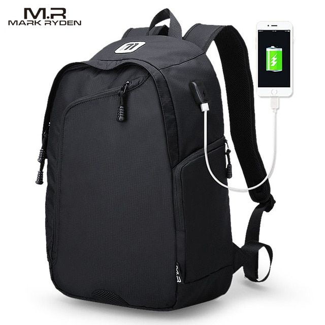 Multifunction USB charging Men 14inch Laptop Backpacks For Teenager Fashion Male Mochila Leisure Travel backpack