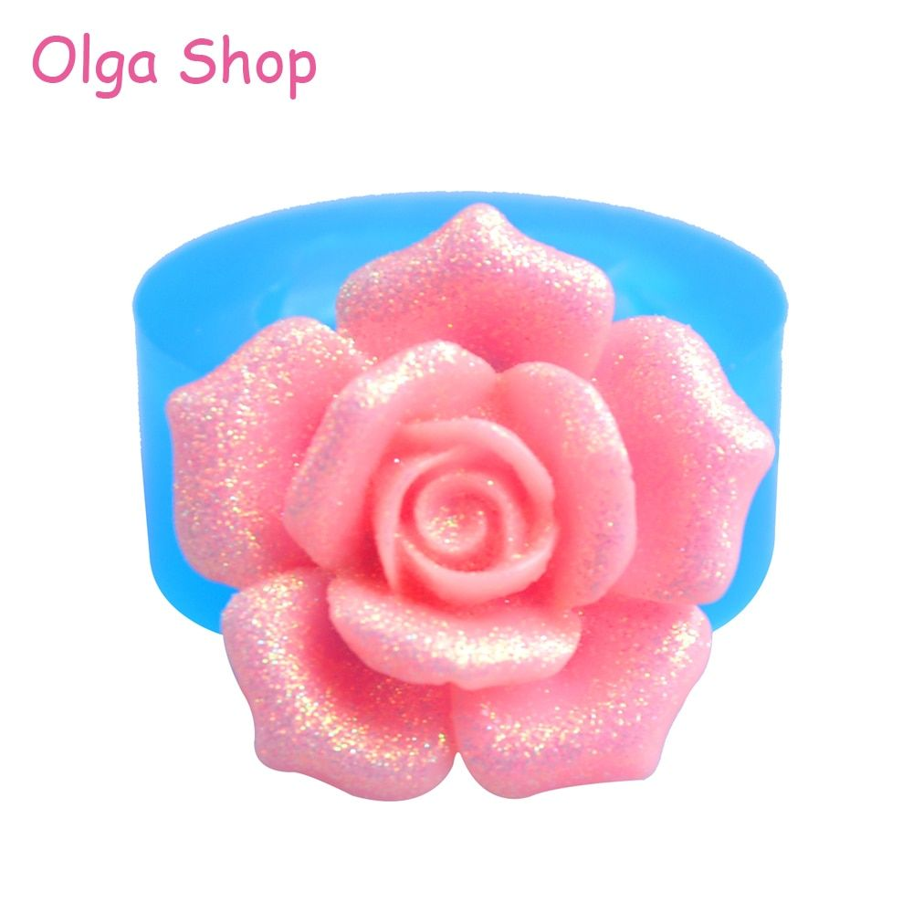 HYL117 20.6mm Rose Flower Silicone Mold - for Cupcake Topper Cake Decoration Wedding Cakes Resin Jewelry Pendant Charm Mould