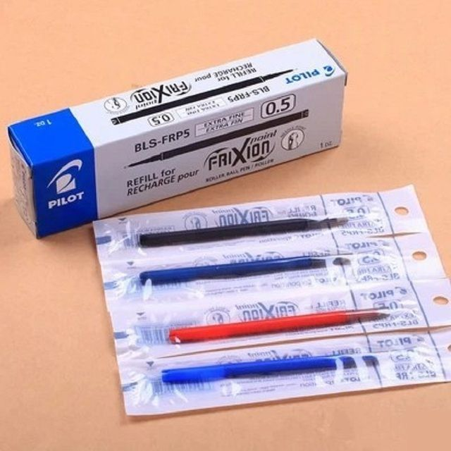 Pilot BLS-FR5 0.5mm erasable gel pen refills blue/red/black ink office & school supplies 6pcs/lot