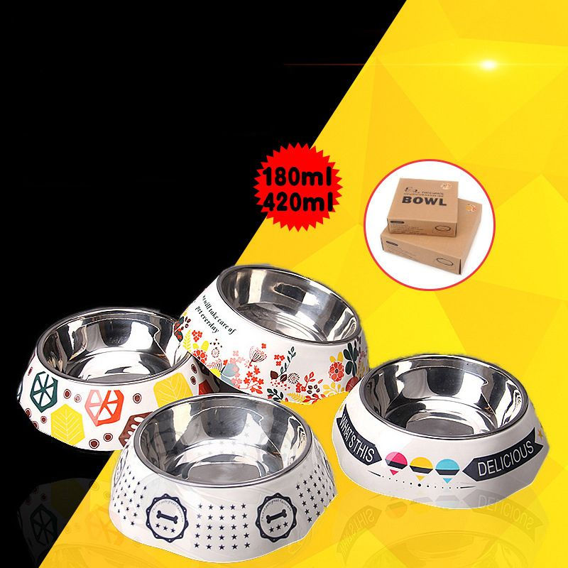 Dog Bowls Grade Stainless Steel Pet Dog Cat Bowl non-slip Feeding Food Snacks Water Dish Feeder portable Travel bowl for pet