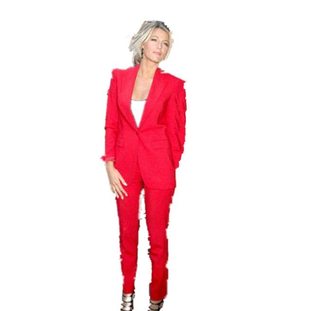 New Limited Full Regular Women Evening Pant Suits New Slim Fit Women Tuxedos For Peaked Lapel Suits Business Suit Custom Made