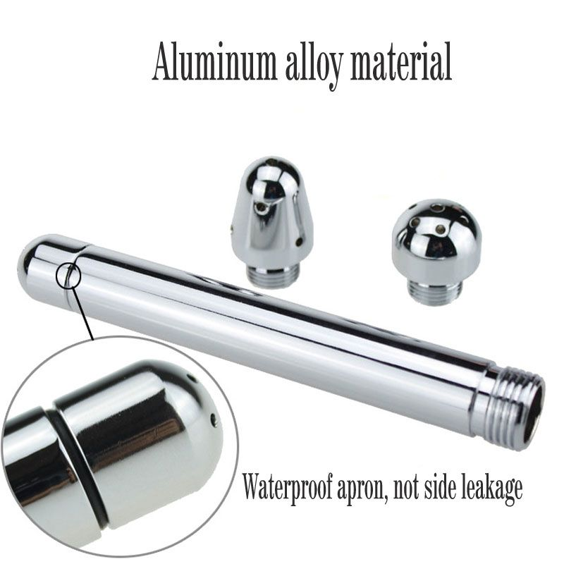 Aluminum Shower style enema anal cleaner Vagina cleaning For women Enemator Plug Sex Toy anal cleaning enema for mandouche anal