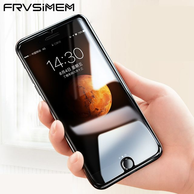 FRVSIMEM Front Explosion-Proof 9H 2.5D Tempered Glass for iPhone X 5C 5 5s SE 6 6s Plus 7 8 Plus 4 4s Screen Protector Film Case