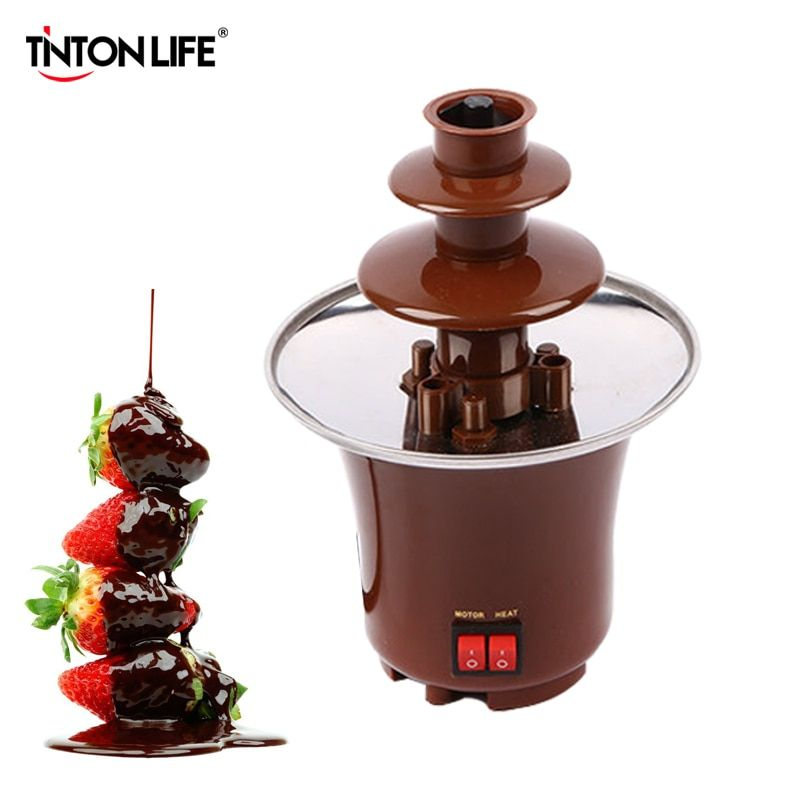 TINTON LIFE New Mini Chocolate Fountain Creative Design Chocolate Melt With Heating Fondue Machine