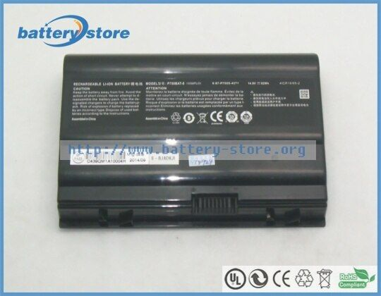 Genuine battery P750BAT-8, 6-87-P750S-4273 for sager NP9775 NP9778  NP9755  NP9758 ,for Sager NP9758-S, 14.8V, 5500mAh, 82W,