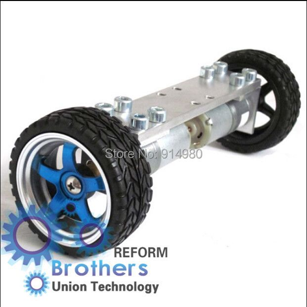2 wheel drive car chassis dc gear motor turn 6 v150 wheels 65 mm is convenient to assemble and extend toy robots Toy cars