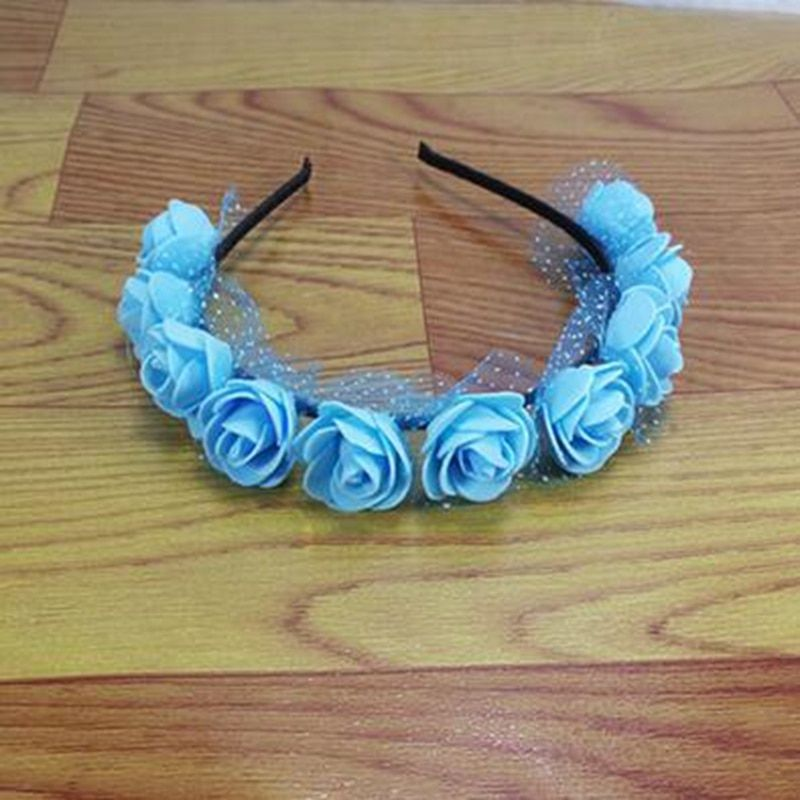 5 piece/lot Stylish Flower Garland Floral Bridal Headband Hairband Wedding Prom flower headband Hair Accessories
