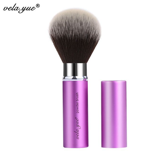 vela.yue Retractable Powder Brush Face Powder Blush FoundationMakeup Brushes Beauty Tool