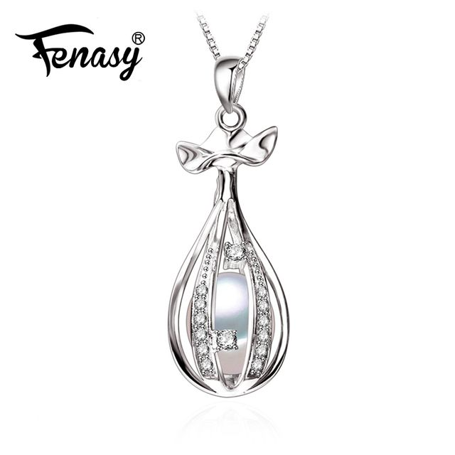 FENASY bohemian cage Necklaces from india bijoux 2017 New cage Design pearl necklaces for women Wedding Jewelry Box bijoux