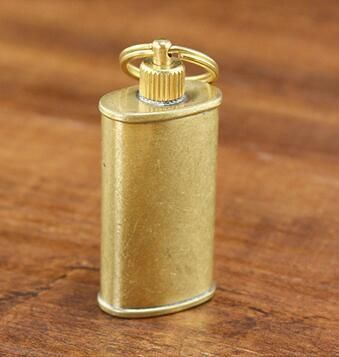 ZORRO pure copper oil can carry portable kerosene lighter oil can golden gadgets (11 ml)