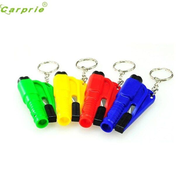 New Arrival Mini Safety Keychain Car Emergency Rescue Glass Breaker Hammer Escape Tool mr10