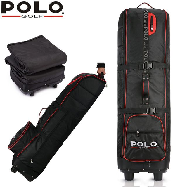 Brand Polo Genuine Golf Bag Pulley Waterproof Travel Folding Golf Aviation Package Rod Thickened Outsourcing Plane Tug Strong