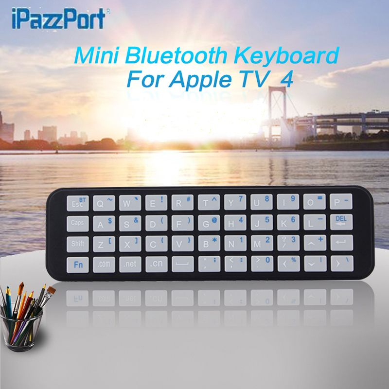 Professional IPazzPort for Apple TV 2&3&4 generations of Bluetooth keyboard remote control bluetooth keyboard wireless free ship