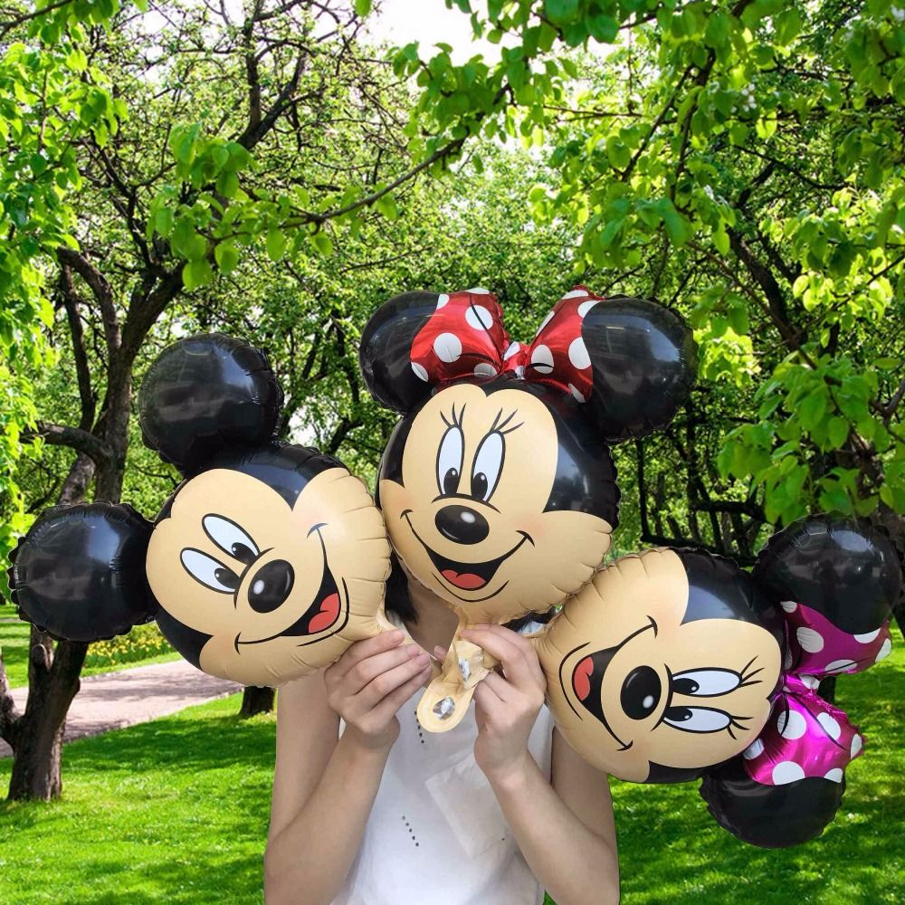 50pcs 45*36cm Minnie Mickey Foil balloons for party theme foil globos kids toys birthday party  Decor Supplies Kids Gifts