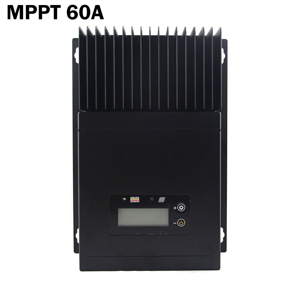 60A MPPT Solar Panels Charge Controller, Regulator for DC12V 24V 48V off grid solar power system