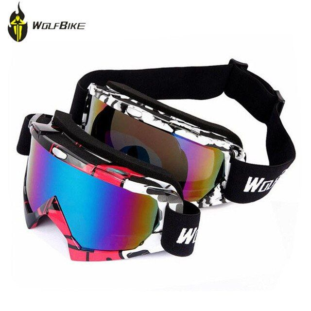 WOLFBIKE Winter Ski Eyewear Goggles Double UV400 Protection Windproof Glasses Goggles Motocross Snow Skiing Eyewear Glasses