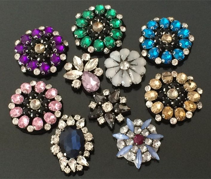Crystal rhinestone sequins patches applique beaded collar sewing accessories fashion flowers clothing decoration patch