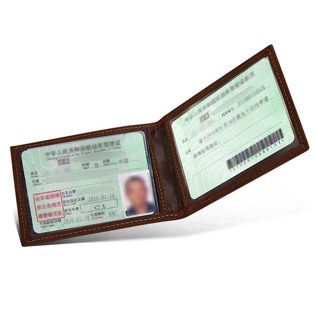 Vintage Real Cow Leather Men Driver License Wallet Brand 100% top Quality Driving License Cover Drivers Wallet for Car