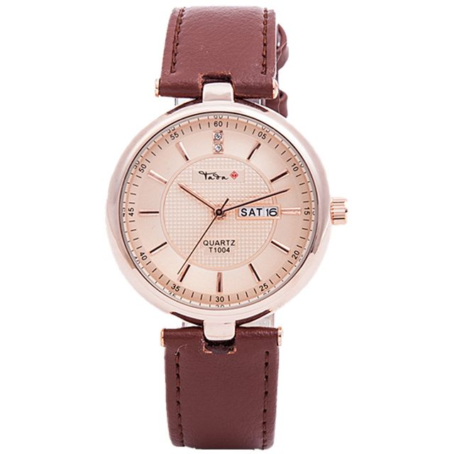 TADA brand high quality genuine leather strap 3ATM water proof watches ladies japan movt quartz date displaying women's relojs