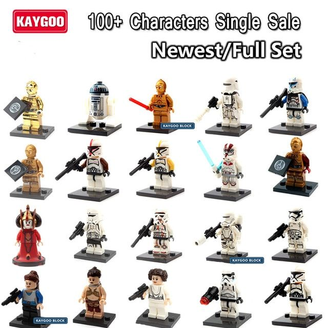 Kaygoo Single Sale Star Series Space War Darth Vader revan Jango Boba Fett Stormtroopers Princess Leia Building Block toys Gift