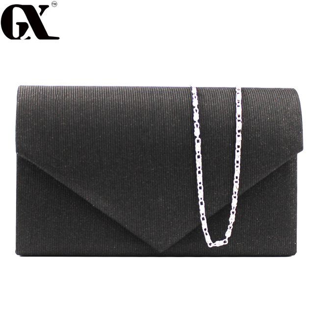 GX 2017 Hollow Lace Clutch Bag New Lace Satin Evening Bags High-grade Silk Party Bag Exquisite Day Clutches Crossbody Chain Gift