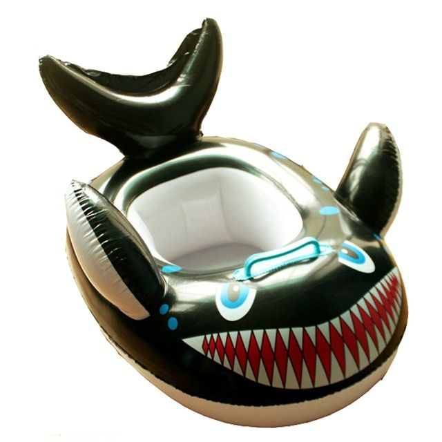 ZIKA Funny Kids Baby Inflatable Swimming Pool Ring Child Shark Swimming laps Pool Swim Ring Seat Float Boat Water SportS