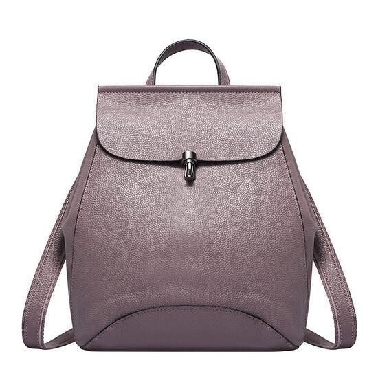 2019 Fashion Real Leather Backpack for Ladies Japan and Korean Style Women Backpack Candy Color Shoulder Bag Travel Bags Rugtas