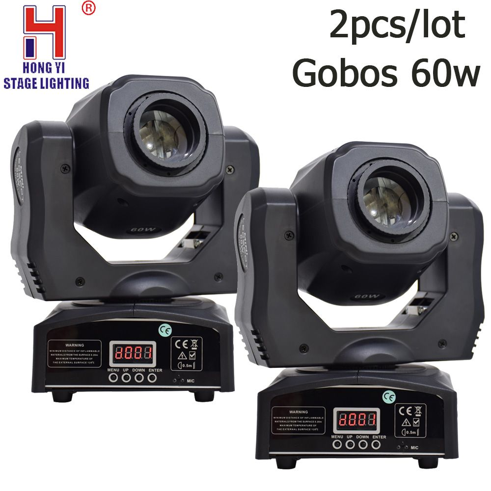 Mini gobos 60w LED Moving Head Light 2PCS/LOT