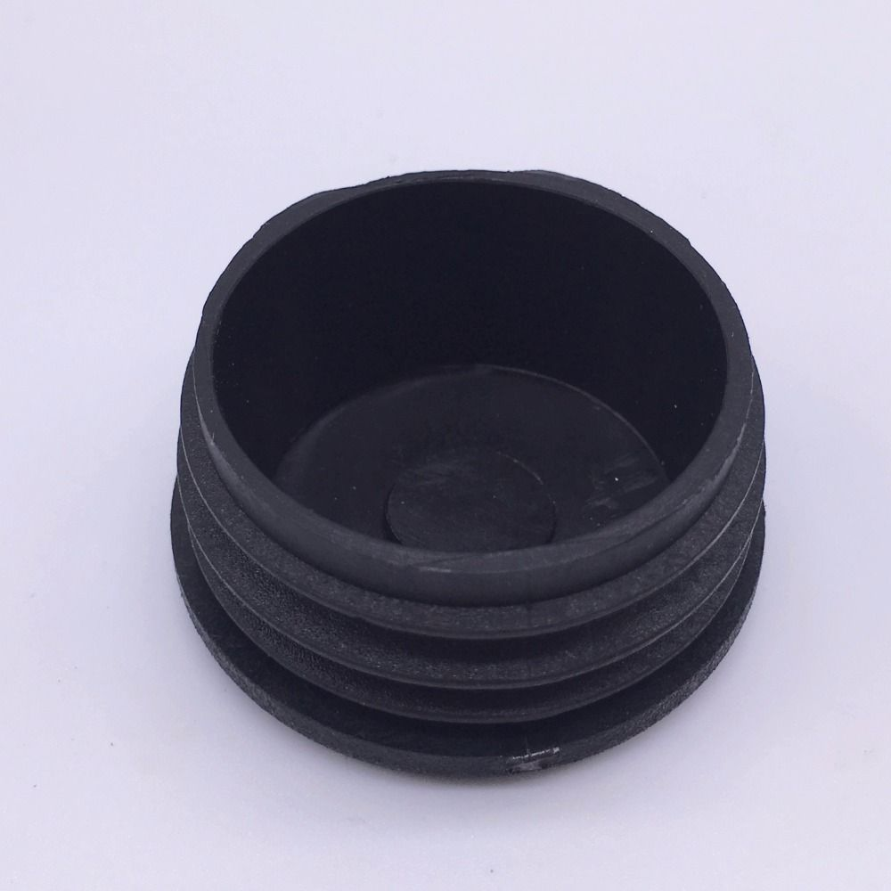 16mm Plastic Feet Plug for Pipe Black Pack 50