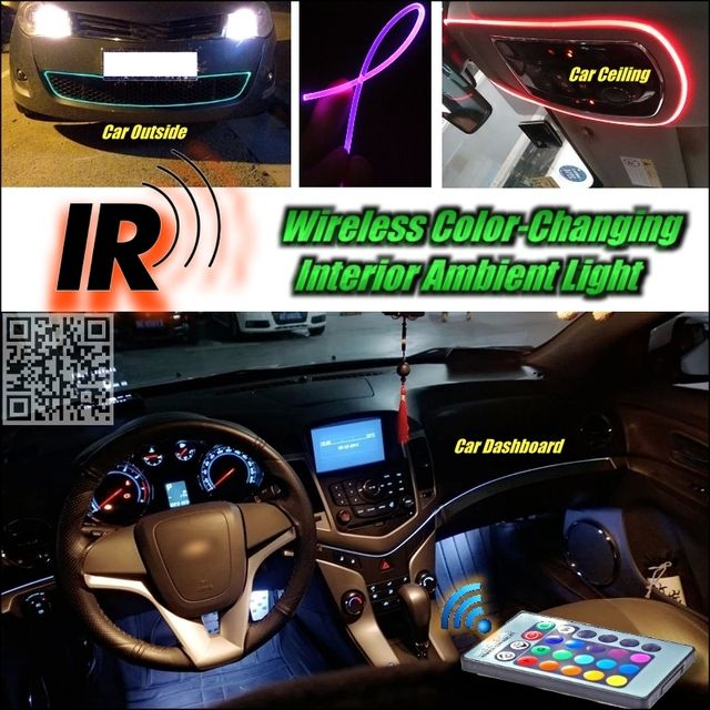 Wireless IR Control Car Interior Ambient 16 Color changing Light DIY Light For Mercedes Benz MB Smart Fortow Forfour RoadSter