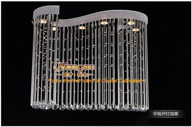 Luxurious Crystal Ceiling Lights With 6 GU10 Bulbs MD8617 Free Shipping